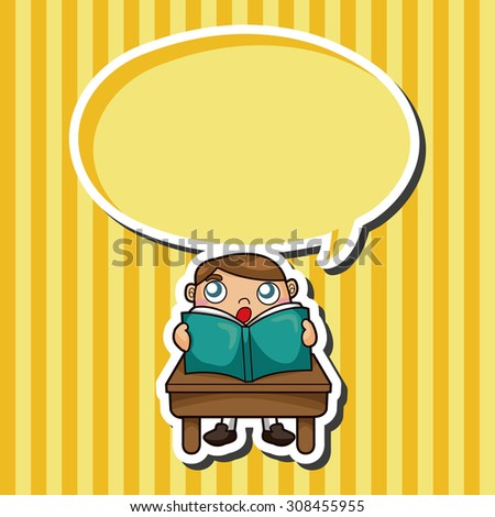 student, cartoon speech icon