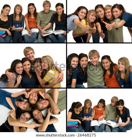 Student collage - stock photo
