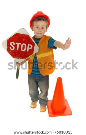 Student Crossing Guard - stock photo