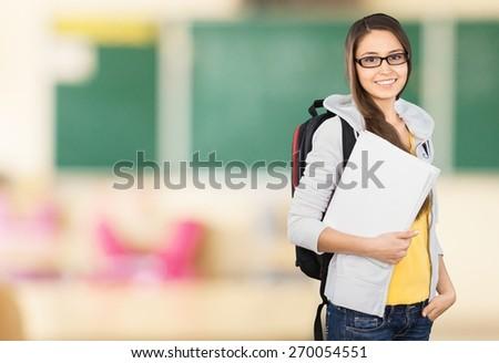 Student. Female Student - stock photo