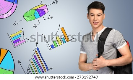 Student, High School Student, Men. - stock photo