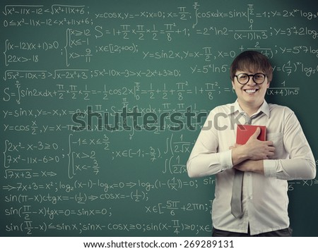 student holding book - stock photo