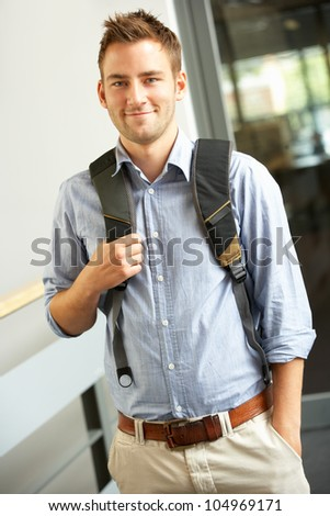 Student in college - stock photo