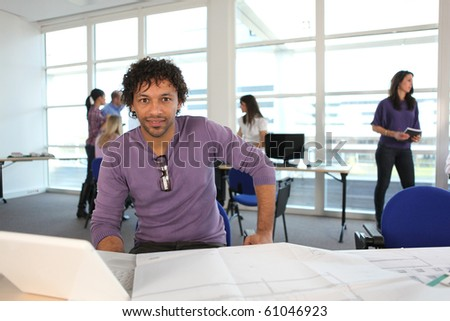 Student in School of Architecture - stock photo