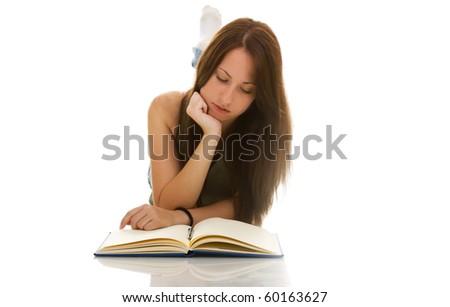 student isolate isolate on white background - stock photo