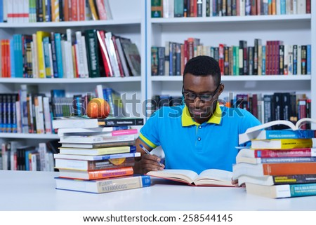 student learning in the library