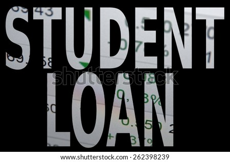 Student loan - stock photo