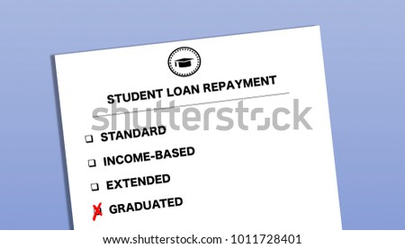 Student Loan Repayment Options Form Graduated Stock Illustration