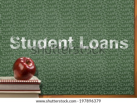 Student loans are dumb. - stock photo