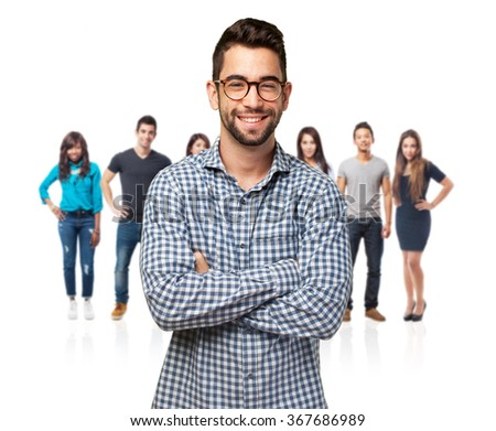 student man smiling - stock photo