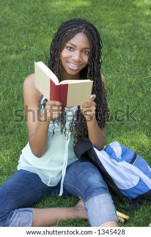 Student Reading - stock photo