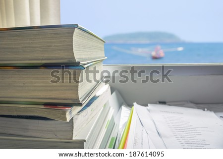 student's text books are read by a student