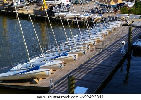 Student Sail Boats, Yacht Club Annapolis
