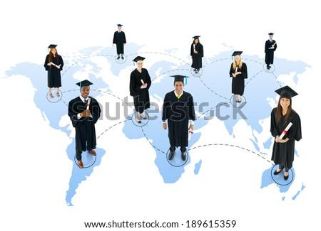 Student social network - stock photo