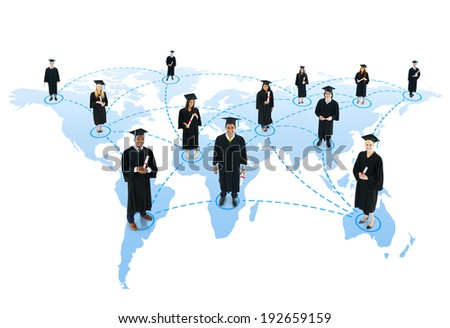 Student social network - stock photo