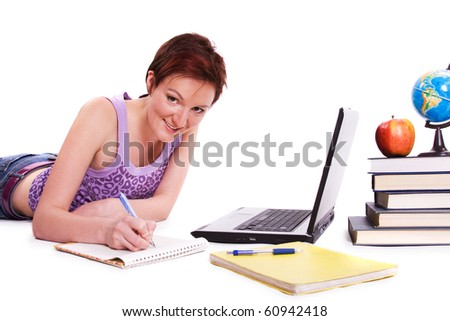 Student studying - stock photo