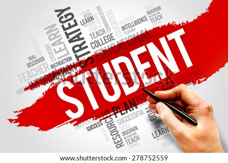 STUDENT word cloud, education concept - stock photo