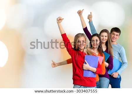 Students, High School Student, College Student. - stock photo