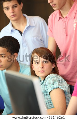 Students in computer classes