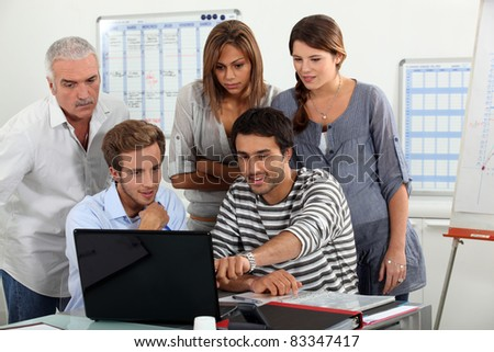 Students in training room - stock photo