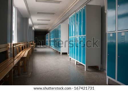 Students Locker Room  - stock photo