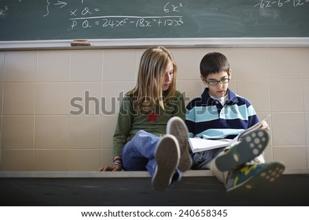 Students Studying Together - stock photo