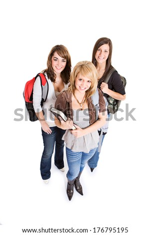 Students: Three Female Student Friends