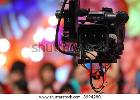 studio camera - stock photo