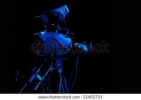 Studio camera equipment for professional video recording! - stock photo