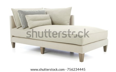 studio day sofa chaise lounge day bed sofa isolated