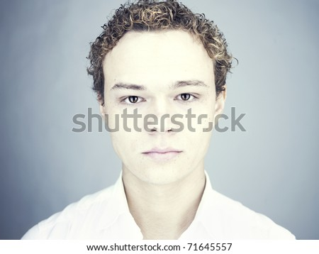 Studio fashion portrait of young handsome men - stock photo