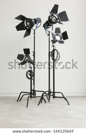 Studio Films Lights - stock photo