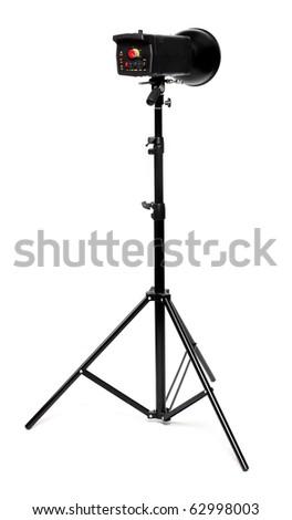 Studio flash. - stock photo