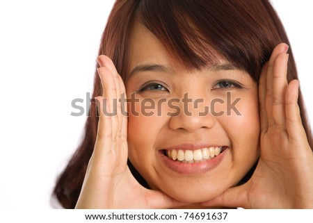 Studio image of an asian woman - stock photo