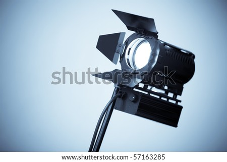 Studio Lamp for video and photography - stock photo