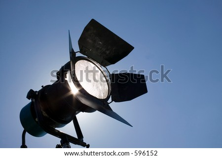 Studio light on location for movie scene. - stock photo
