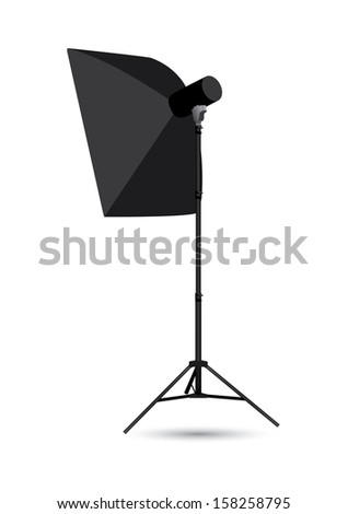 Studio lighting isolated on the white background.  - stock photo