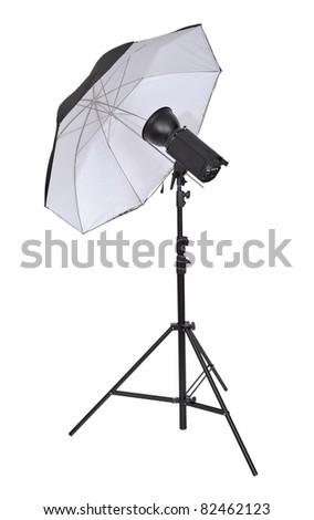 Studio lighting isolated on the white background - stock photo
