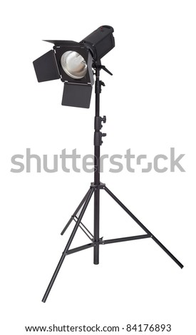 Studio lighting isolated on the white background - stock photo