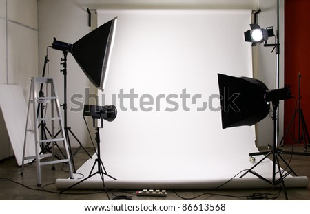 studio lighting with copy space for your image - stock photo