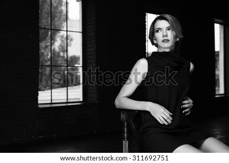 studio loft interior woman actress