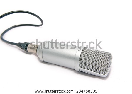 Studio microphone. - stock photo