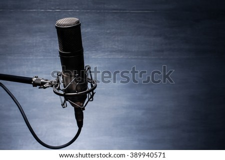 studio microphone - stock photo