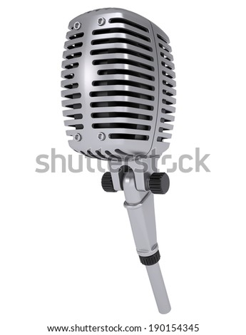 Studio microphone. Isolated render on a white background
