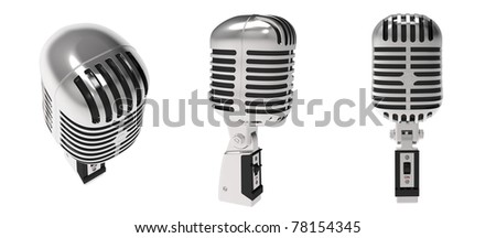 Studio microphone on a white background - stock photo