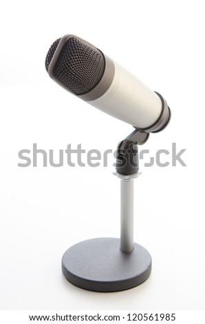 Studio microphone on white background - stock photo