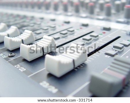 studio or concert sound mixer
