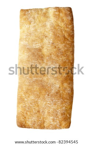 Studio photo of fresh bread on a white background