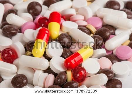 Studio photo of pills - stock photo