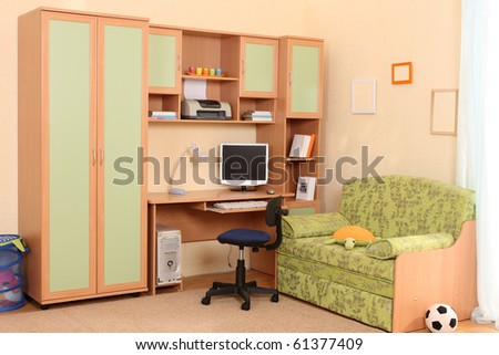 Studio photographing of an interior of a children's room - stock photo